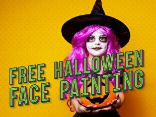 Fiendish face painting for Halloween
