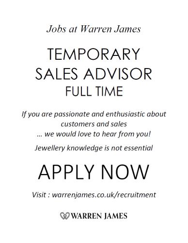 Temporary Sales Advisor